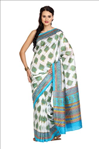 Parchayee Women Synthetic Sarees (93294 _White _Free Size)