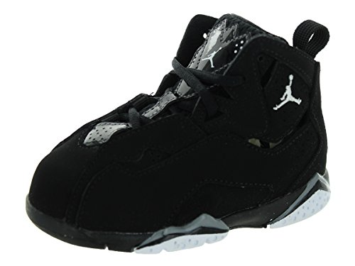 Nike Toddlers Jordan True Flight Bt Black/White/Black/Cool Grey Basketball Shoe 8 Infants US