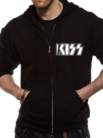 Kiss Hottest Show- men's black zipped hoodie (Small)