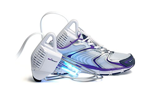SteriShoe+® UV Germ + Odor Eliminator / Ultraviolet Shoe Sanitizer / Sneaker Deodorizer / Boot Dryer / Kills Organisms that cause Athlete's Foot, Jock Itch and Toenail Fungus (Onychomycosis)