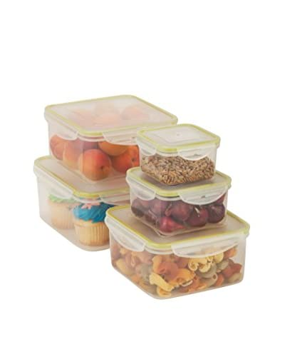 Honey-Can-Do Locking 10-Piece Food Storage Set, Clear