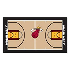 Buy FANMATS NBA Miami Heat Nylon Face NBA Court Runner-Small by Fanmats