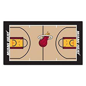 FANMATS NBA Miami Heat Nylon Face NBA Court Runner-Small