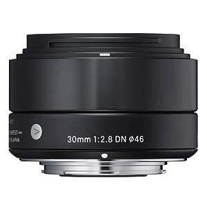 Sigma 30mm f2,8 DN Objektiv (Filtergewinde 46mm) für Micro Four Thirds Objektivbajonett schwarz