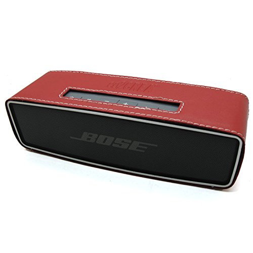Co2Crea(Tm) Red Pu Leather Case Skin Sleeve Bumper Protective Cover For Bose Soundlink Mini Wireless Bluetooth Speaker