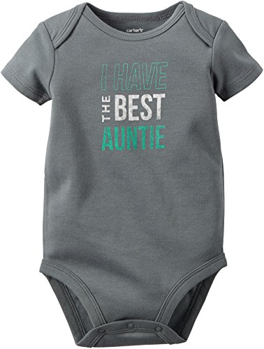 Carters Baby Boys Best Auntie Bodysuit 6 Months Grey