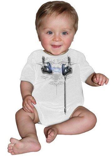 Spiral Morti Batte Body Bimbo - cotone, bianco, 100% cotone, Unisex - Baby, M