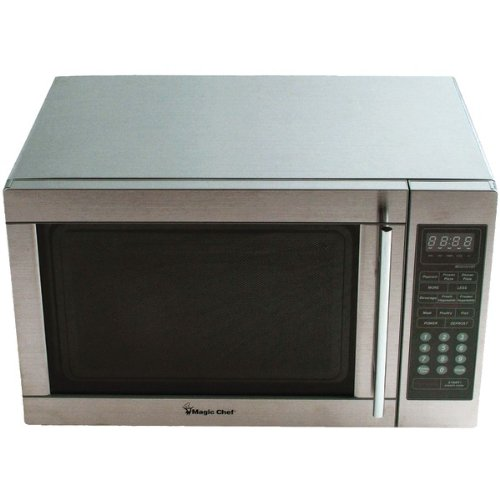 Magic Chef Mcd1311St 1.3 Cubic-Ft, 1,100-Watt Stainless Microwave With Digital Touch (Mcd1311St) -