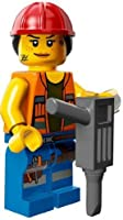 The Lego Movie Gail the Construction Worker Minifigure Series 71004 by LEGO