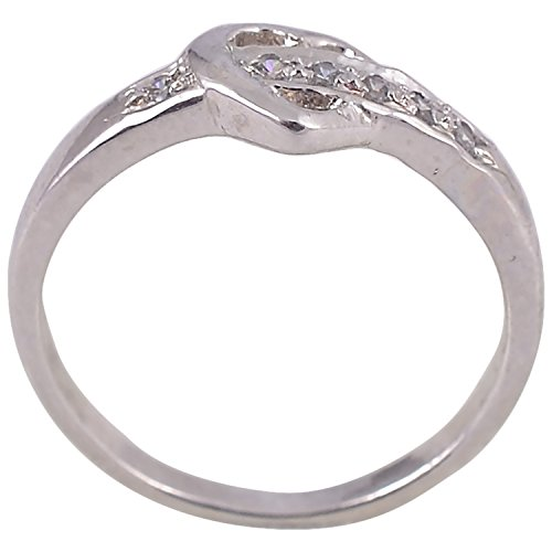 Be-Jewelled Bejewel Sterling-Silver Ring For Women (Silver)