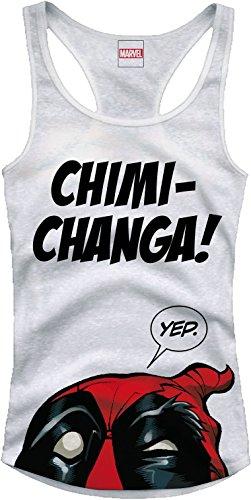 Deadpool - Canottiera con motivo Chimichanga - Cotone bianco - M