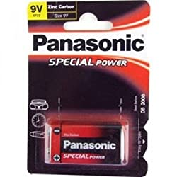 9 Volt Zinc carbon PP3 Battery from Panasonic