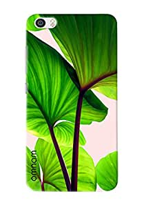 Omnam Tree Green Leaves Closeup Effect Printed Designer Back Cover Case For Xiaomi Mi5