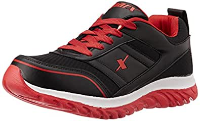 Sparx Men's Black and Red Running Shoes - 10 UK
