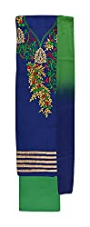 Vidhi Collection Women's Cotton Unstitched Dress Material (Blue)