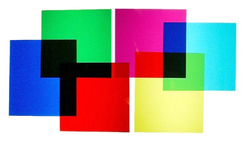 Colored Film Gels – Set of Six Colors 8×10 inch sheets