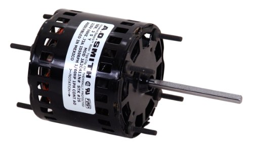 Special Price AO Smith 396  3.3-Inch Frame Diameter 1/20 HP 1450 RPM 208-230-Volt 1.1-Amp Sleeve Bearing Blower Motor