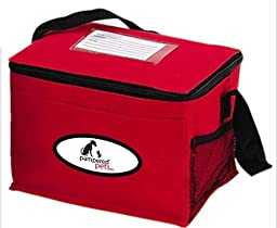 Pampered Pets Insulated Cooler Bag, 9.5-Inch, Red