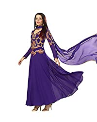NIK CREATION Women's Georgette Semi-Stitched Embroidered Anarkali Suit