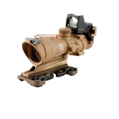 Acog 4 X 32 Scope Dark Earth Dual Illuminated Crosshair .223 Ballistic Reticle, Red