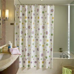 Sea the top of the waterproof bathroom shower curtain dressing curtain fitting curtain green shower curtain flower shower curtain send hook can be customized