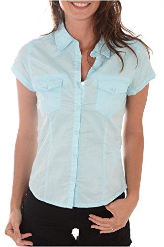 Camicia a maniche corte, 5 dilex kaporal, colore: blu blu XS