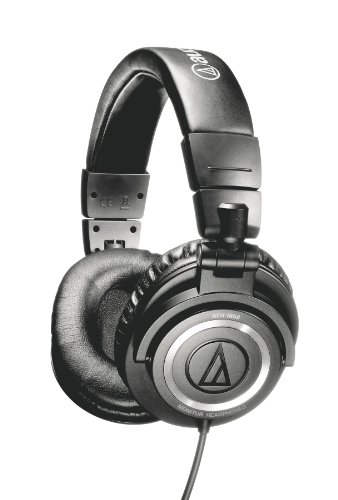 Audio-Technica ATH-M50 Studio Monitor Professional Headphones - Black Coiled Cable