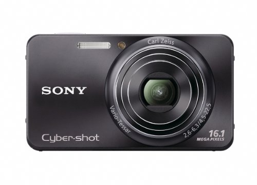 Sony Cyber-Shot DSC-W570 16.1 MP Digital Still Camera with Carl Zeiss Vario-Tessar 5x Wide-Angle Optical Zoom Lens and 2.7-inch LCD (Black)