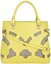 Moda King Women's Handbags (Yellow) (ModaKing015)