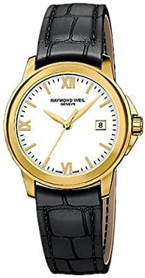 Raymond Weil Women's 5376-P-00307 Tradition Analog Display Swiss Quartz Black Watch