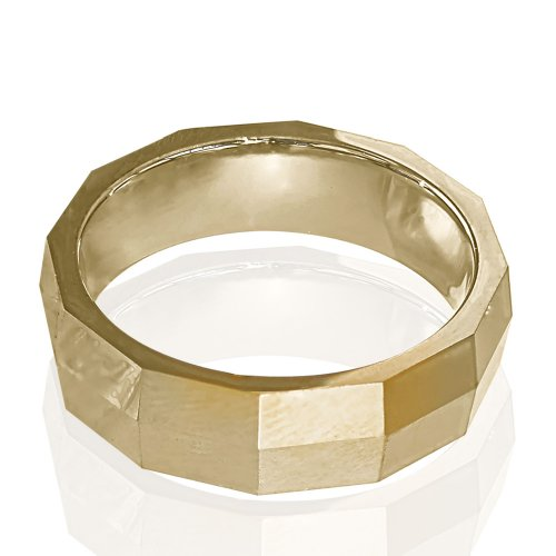 Tungsten Ring Rose Gold Plated. Size 8