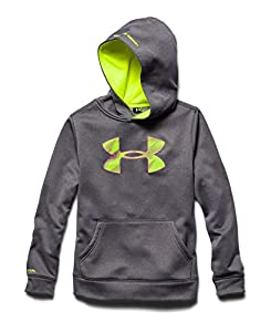Under Armour Big Boys' UA Storm Armour Fleece Big Logo Hoodie Youth X-Small Carbon Heather