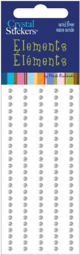 Mark Richards Elements Crystal Stickers 1652 120-Piece Self-Adhesive Rhinestones, 3mm, Clear (Round Gem Stickers compare prices)