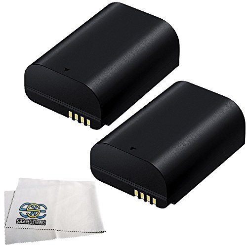 2-Pack Intelligent Li-Ion Replacement Batteries for Samsung ED-BP1900 BP1900 2200mAh each for Samsung NX1 28.2 MP Wireless SMART Compact System Camera