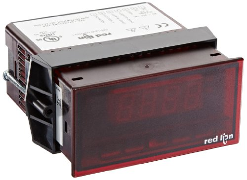Red Lion Paxlcl Pax Lite Current Loop Digital Input Panel Meter, 3-1/2 Digit Led Display, 85 To 250 Vac, 50/60 Hz