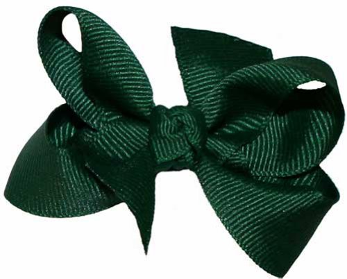 Baby Size GrosGrain Tied Bow ~ Hunter Green
