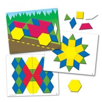 Learning Resources Magnetic Pattern Block Activity Set front-225826