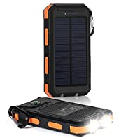 Solar Charger, Dostyle 10000mAh Dual USB...