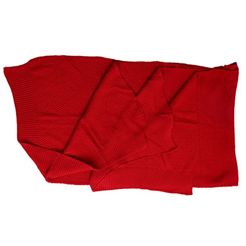 hengsong-baby-blanket-nap-shawl-thin-air-conditioner-blanket-knitted-red