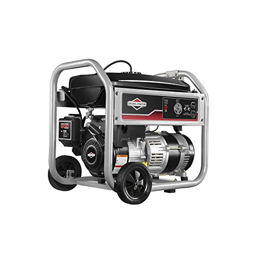 Briggs & Stratton 30547 Gas Powered Portable Generator with 1150-Series 250cc Engine and Power Surge Alternator, 3500-watt