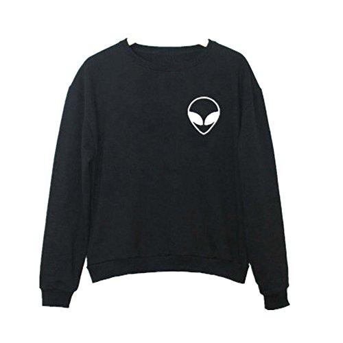 Fortan Fashion Women Casual Hooded Sweatshirt Hoodie Coat Outerwear Tops (small, Nero)