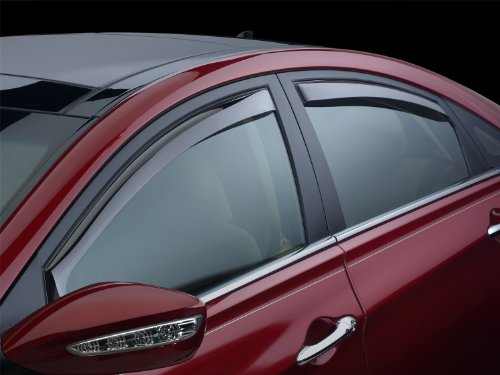 WeatherTech Custom Fit Front & Rear Side Window Deflectors for Honda Ridgeline, Light Smoke
