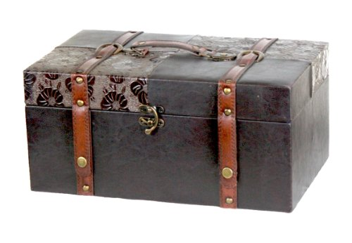 Leather Trunk, Designer Treasure Chest (Prince, Extra Large) 0