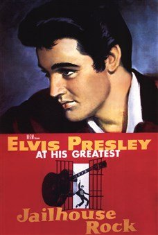 Jailhouse Rock Elvis Presley At His Greatest High Quality Museum Wrap Canvas Print Unknown 24X36