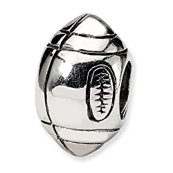 .925 Sterling Silver Football Bead