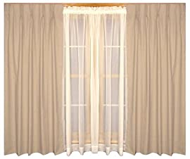 Fireside Insulated Pinch Pleated Drapes Pair