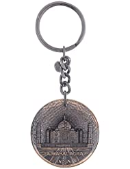 Temple Trees Metal Autorickshaw Black Keychain (Black Yellow, 8.5 Cm X 0.4 Cm X 4 Cm)