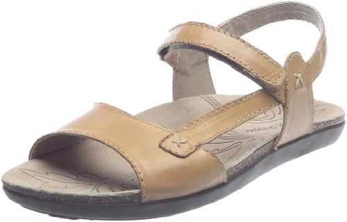 Hush Puppies Women's Santana Sandals  Tan Leather