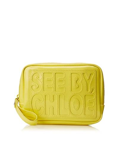 See by Chloé Women's Logo Pouch, Canary As You See