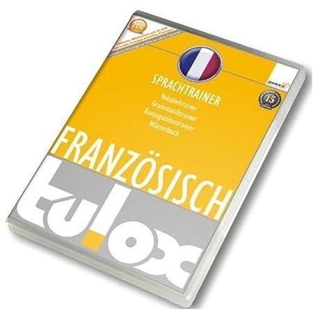 tulox Sprachtrainer Französisch - Vokabeltrainer, Konjugations- und Grammatiktrainer inklusive e-Euro-Wörterbuch mit 20.000 fremdsprachlichen vertonten Vokabeln